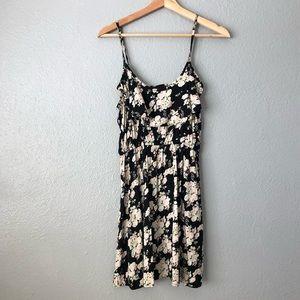 CottonOn Large Black Floral Ruffled Dress